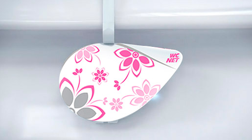wc net  STYLE CRYSTAL PINK FLOWERS