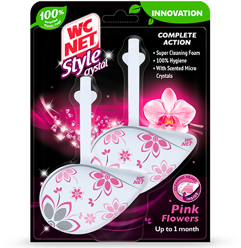 STYLE CRYSTAL PINK FLOWERS